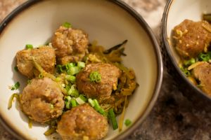 Zoodles and Pork Ginger Meatballs 3